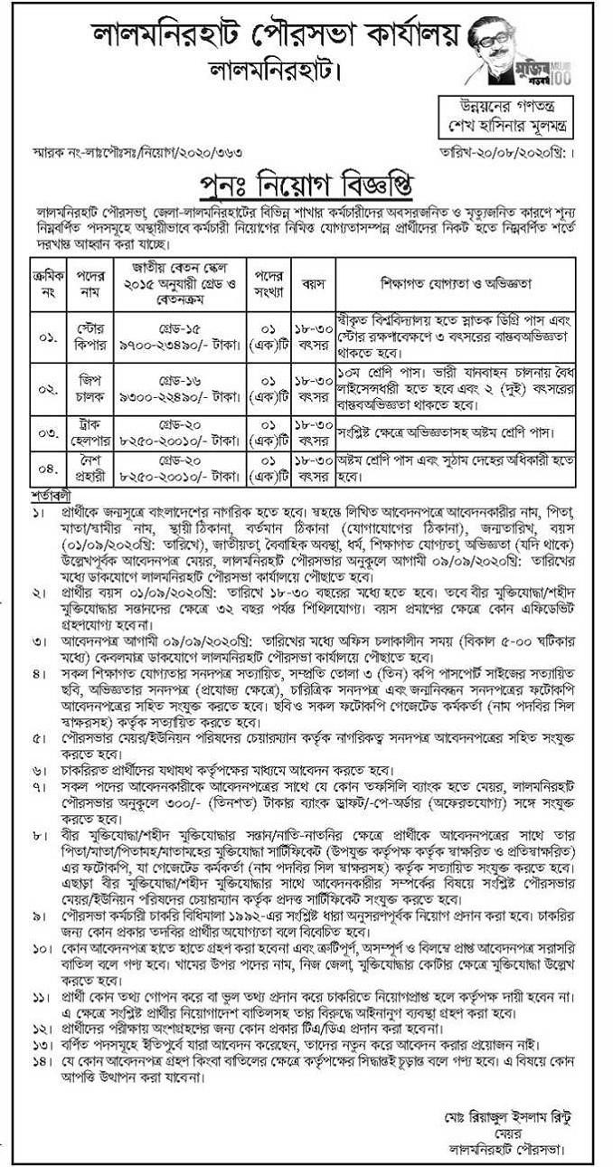 Municipality Office Jobs Circular Apply