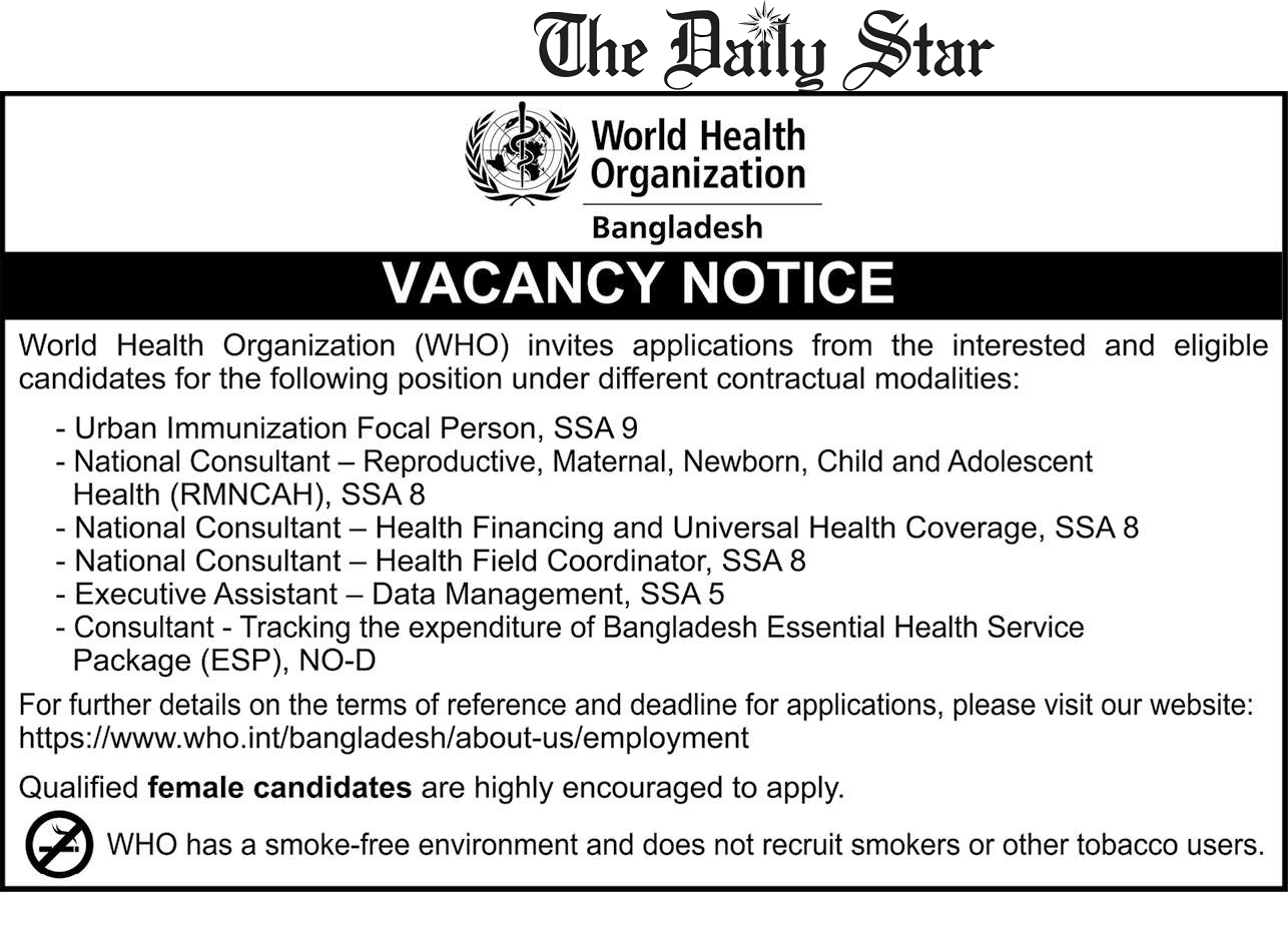 World Health Organization Jobs Circular