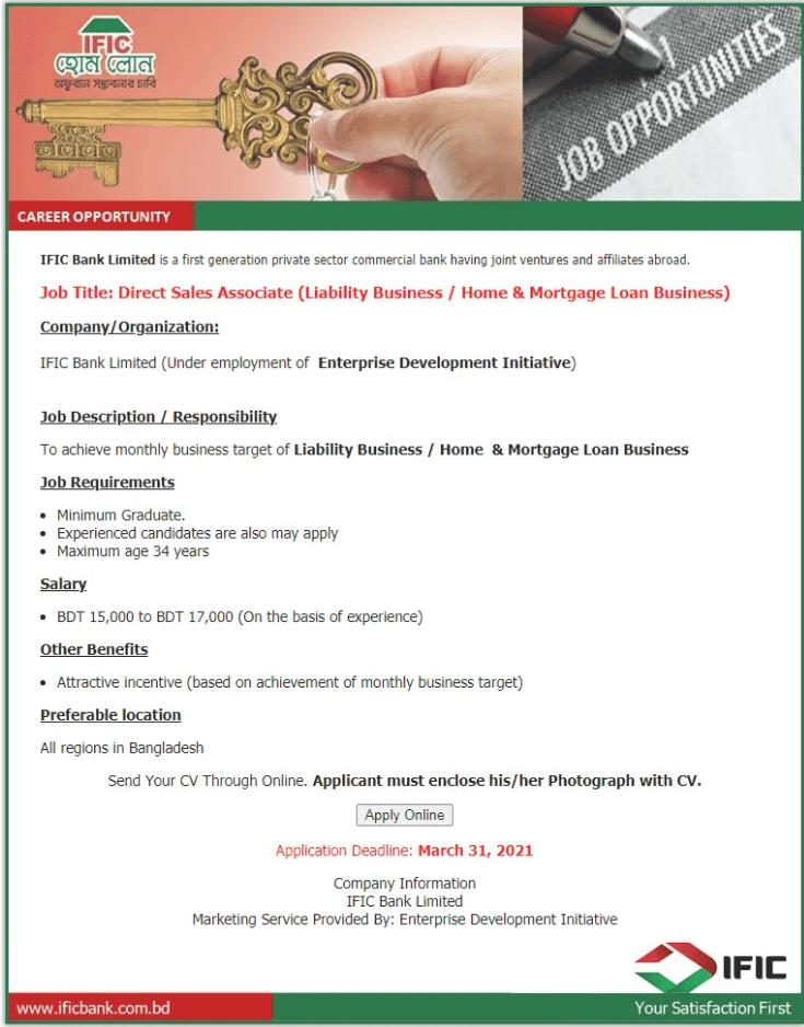 IFIC Bank LTD Job Circular 2021