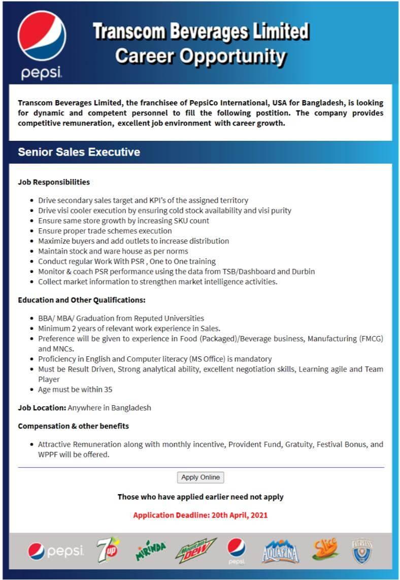 Transcom Limited Job Circular 2021